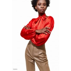 Silk blouse with belt