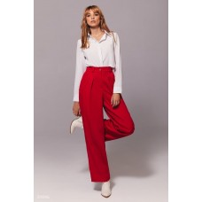 Wide leg pants in red