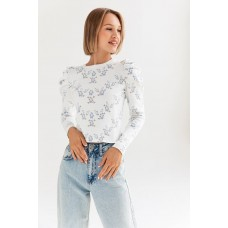 White jumper in floral print