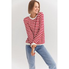 Jumper with red stripes