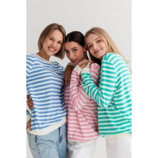 Jumper with blue stripes