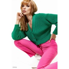 Cropped green jumper