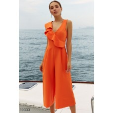 Bright jumpsuit with flounce