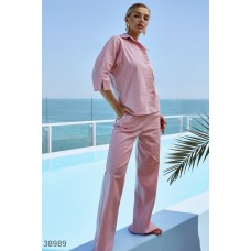 Pink casual suit