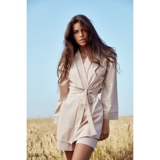 Beige suit with shirt