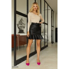 Mini skirt made of eco-leather